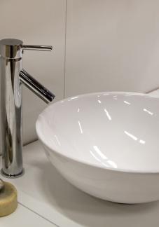 Round handfat modern keramisk stöd diam. 46 cm Shine Rund