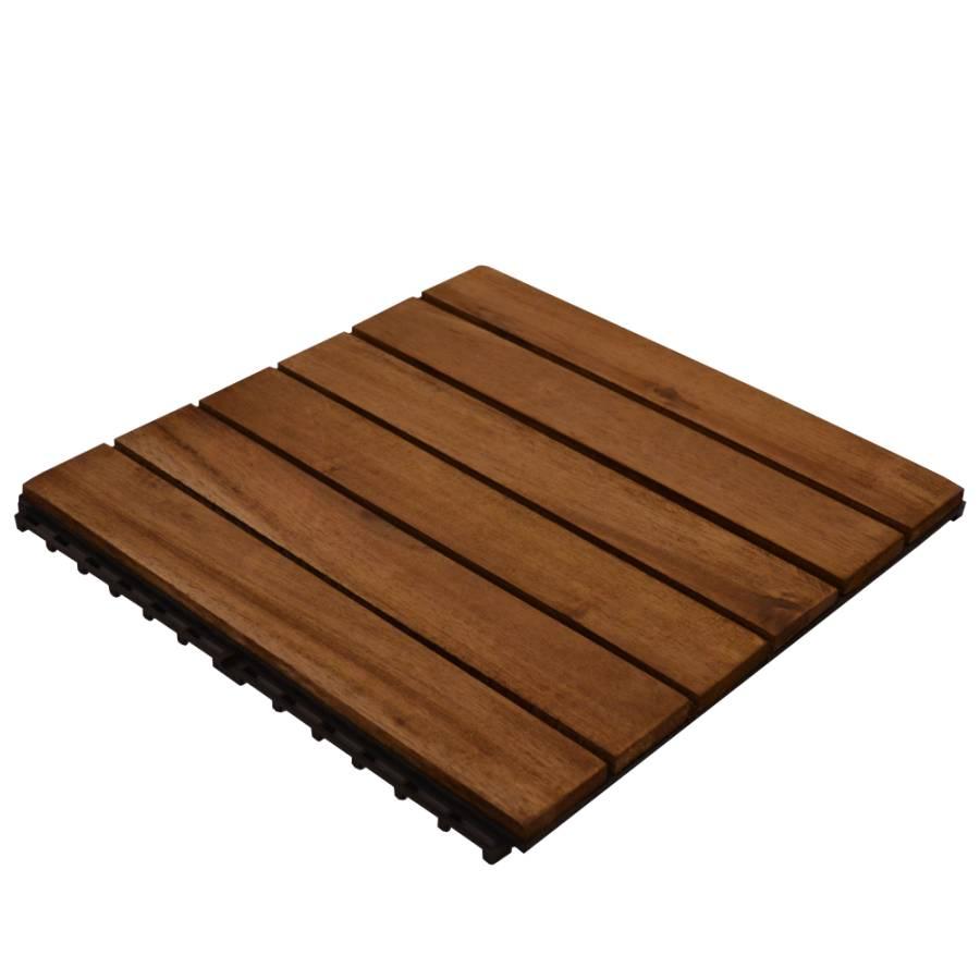 Inredning trall till balkong : Stuvbutiken | Fligo - Trall Acazia 30 x 30 cm 1m²